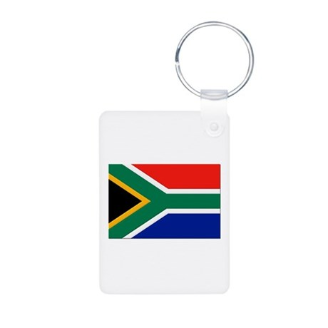 South Africa Flag Aluminum Photo Keychain