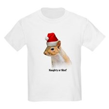 Cute Naughty Santa Squirrel T-Shirt