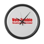 Vote Zombie Large Wall Clock