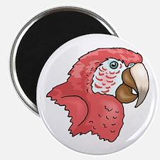 Pink Parrot Magnet