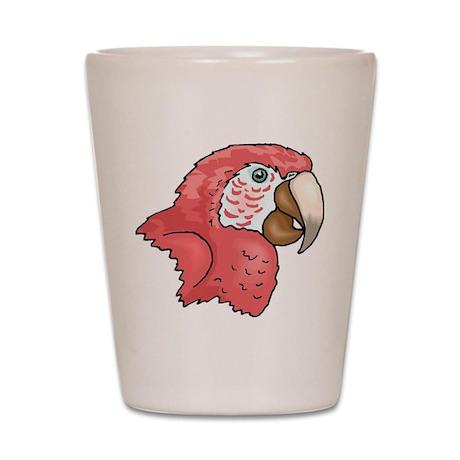 Pink Parrot Shot Glass