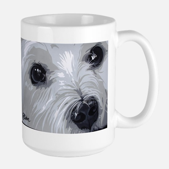 Westie face close Mugs