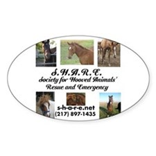 Funny Society for hooved animal rescue and emergency Decal