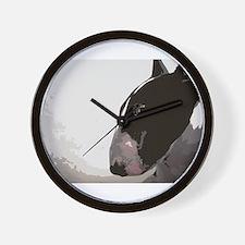 Cute Bull terrier famous art Wall Clock