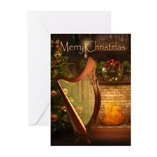 Holiday Celtic Harp Cards (Pk of 10)