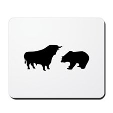 Bull bear Mousepad