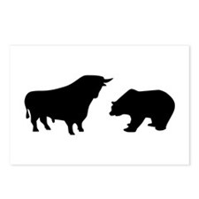 Bull bear Postcards (Package of 8)