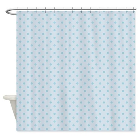dots diagonal baby blue shower curtain by admin cp45405617