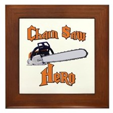 Chain Saw Hero Chainsaw Framed Tile