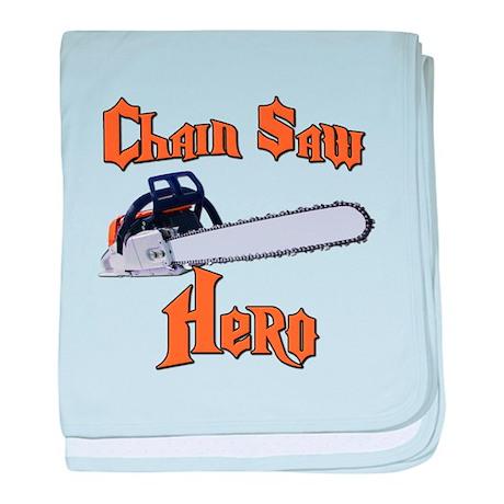 Chain Saw Hero Chainsaw baby blanket