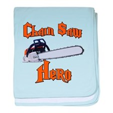Chain Saw Hero Chainsaw baby blanket