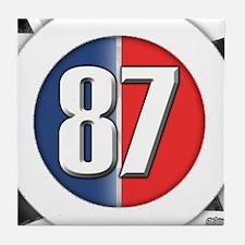 87 Car Logo Tile Coaster