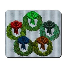Harvest Moon's Christmas Wreaths Mousepad
