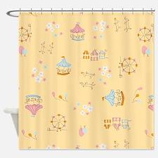 Fair Yellow Shower Curtain