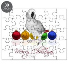 african grey christmas Puzzle