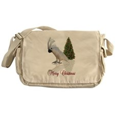cockatoo christmas Messenger Bag
