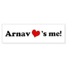 Arnav Loves Me Bumper Bumper Sticker
