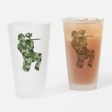 Worn, Camo Paintball Drinking Glass