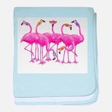 Cool Flamingoes baby blanket