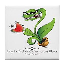 Orgel's Orchids Tile Coaster