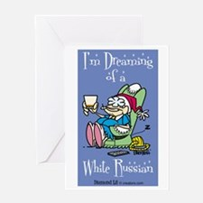 I'm Dreaming of a White Russi Greeting Card