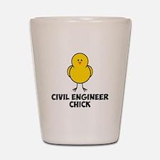 Civil Engineer Chick Shot Glass