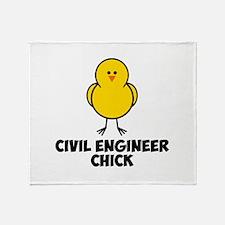 Civil Engineer Chick Throw Blanket