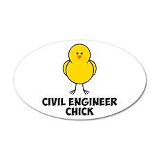 Civil Engineer Chick 22x14 Oval Wall Peel