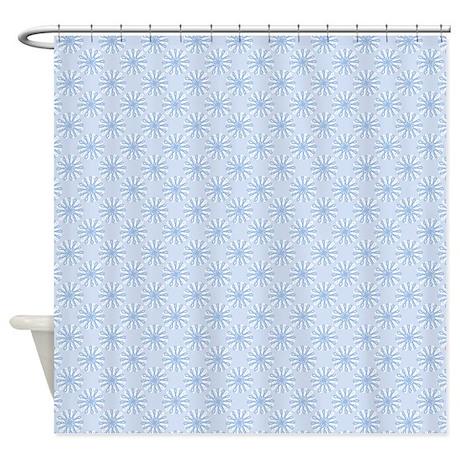 Flower Loop Blue Shower Curtain By Admin Cp45405617