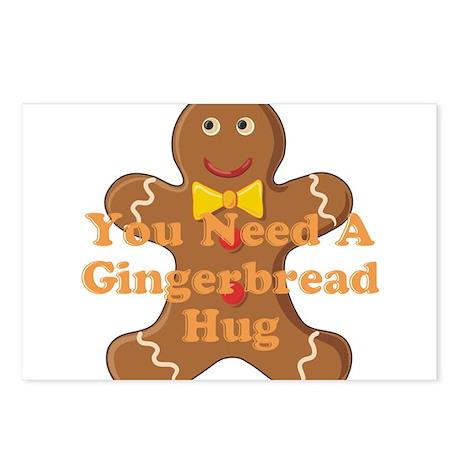 Gingerbread Hug Postcards (Package of 8)