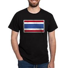 Thailand Flag Black T-Shirt