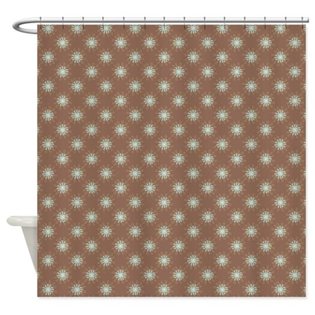 flower loop blue brown shower curtain by admin