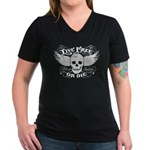 Live Free Or Die Women's V-Neck Dark T-Shirt
