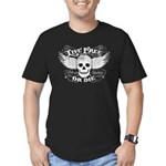 Live Free Or Die Men's Fitted T-Shirt (dark)