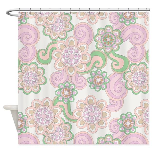 Flower Retro Green Lilac Shower Curtain By Admin CP45405617