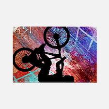 Unique Bmx bike Rectangle Magnet