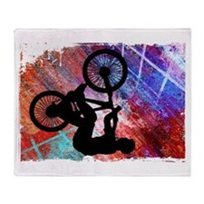 Cool Bmx Throw Blanket