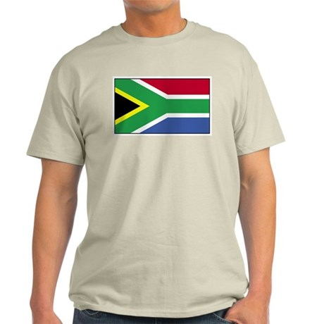 South Africa Flag Ash Grey T-Shirt