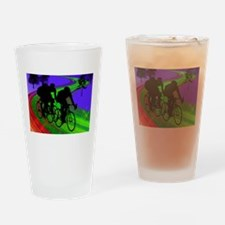 Cool Cycling mens Drinking Glass