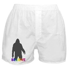 Believe in Bigfoot Boxer Shorts