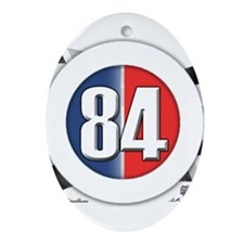 84 Car Logo Ornament (Oval)