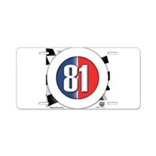 81 Car Logo Aluminum License Plate