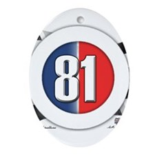 81 Car Logo Ornament (Oval)
