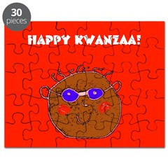 Kwanzaa Cool Shades Guy Red Holidays Puzzle