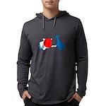 Lava Color Burst Organic Men's Fitted T-Shirt (dar