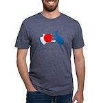 Lava Color Burst Organic Men's T-Shirt (dark)