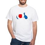 Lava Color Burst Organic Men's Fitted T-Shirt