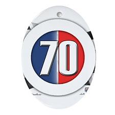 70 Car Logo Ornament (Oval)