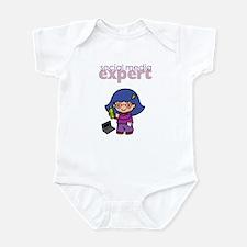 Social Media Expert Baby Girl Infant Bodysuit