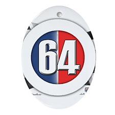64 Car Logo Ornament (Oval)